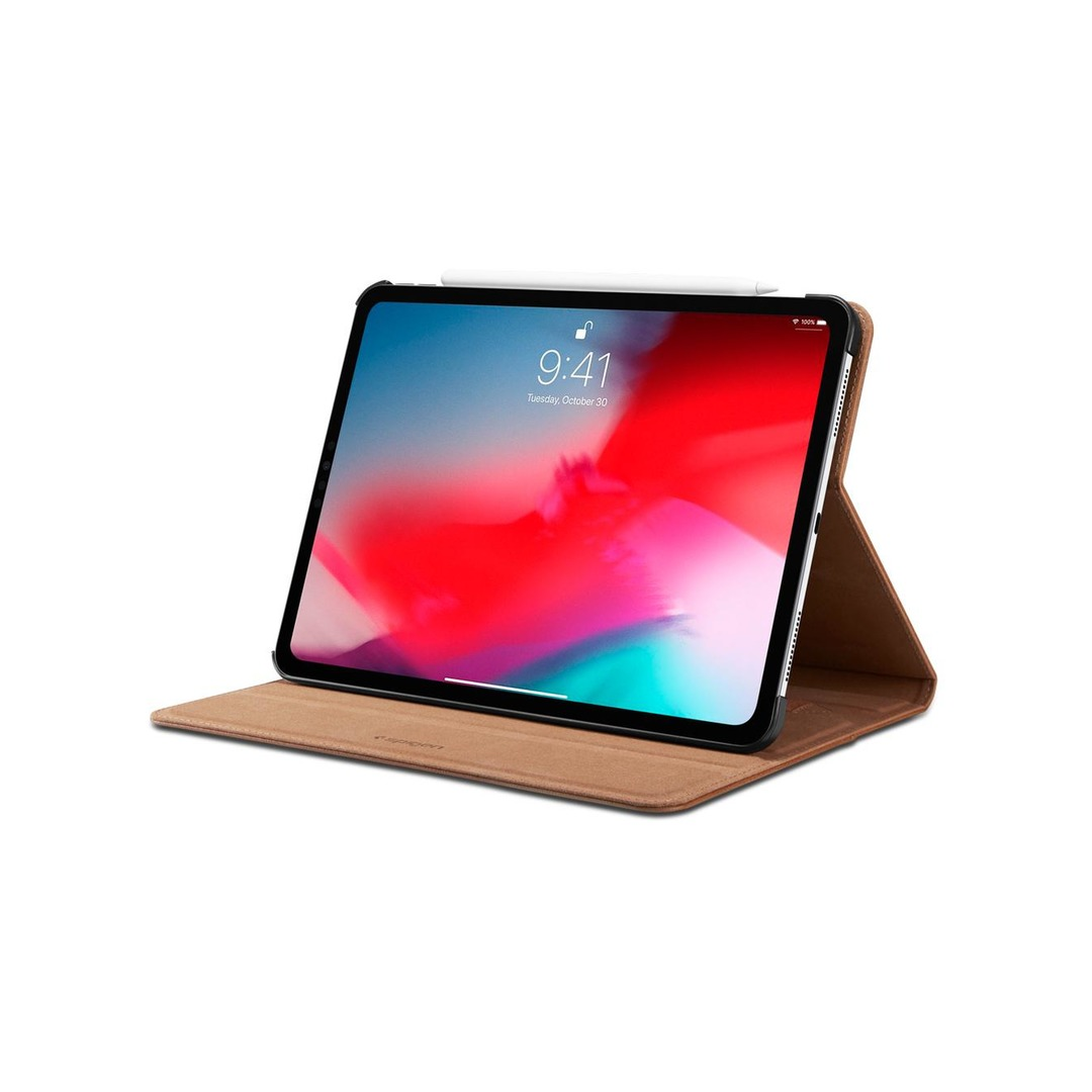 "Spigen Stand Folio Case for iPad Pro 12.9"" - Brown"