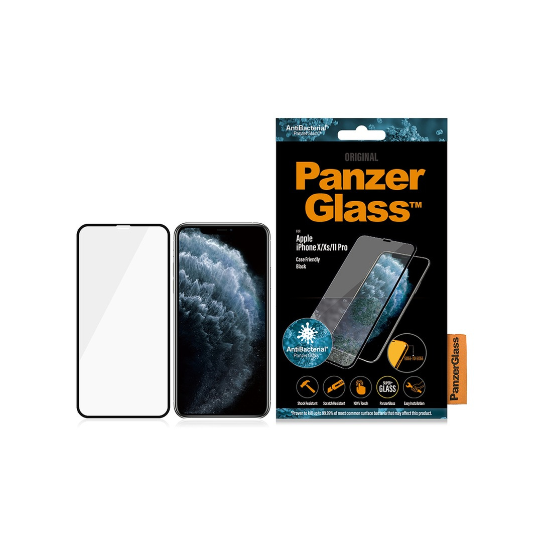 PANZER GLASS Apple iPhone X/Xs/11 Pro Case Friendly Anti-bacterial - Black