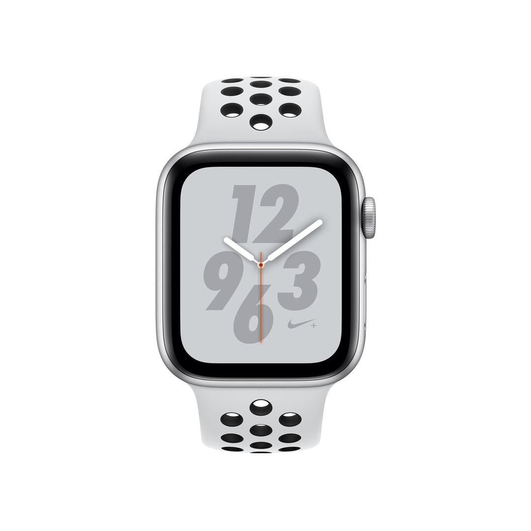 Apple Watch Nike+ Series 4 GPS, Silver Aluminium Case with Pure Platinum/Black Nike Sport Band