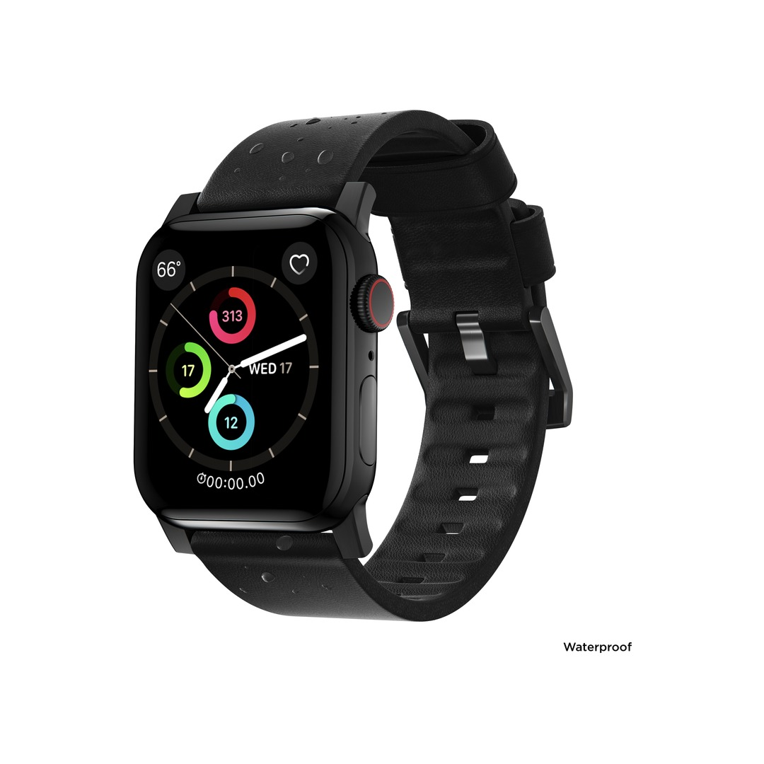 NOMAD Active Apple Watch szíj - Black/Black - 44/42 mm