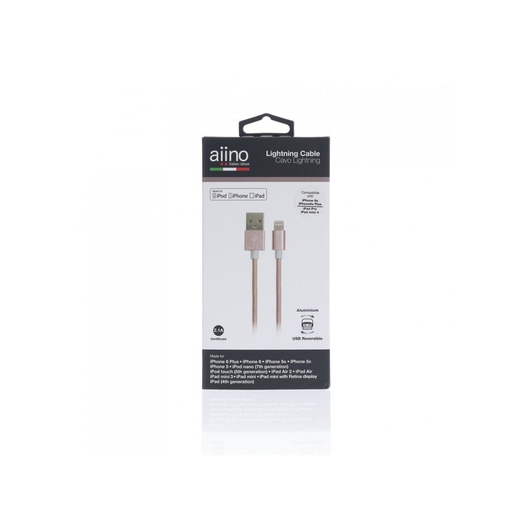 Aiino - Apple Woven Lightning Cable Metal 1.2m