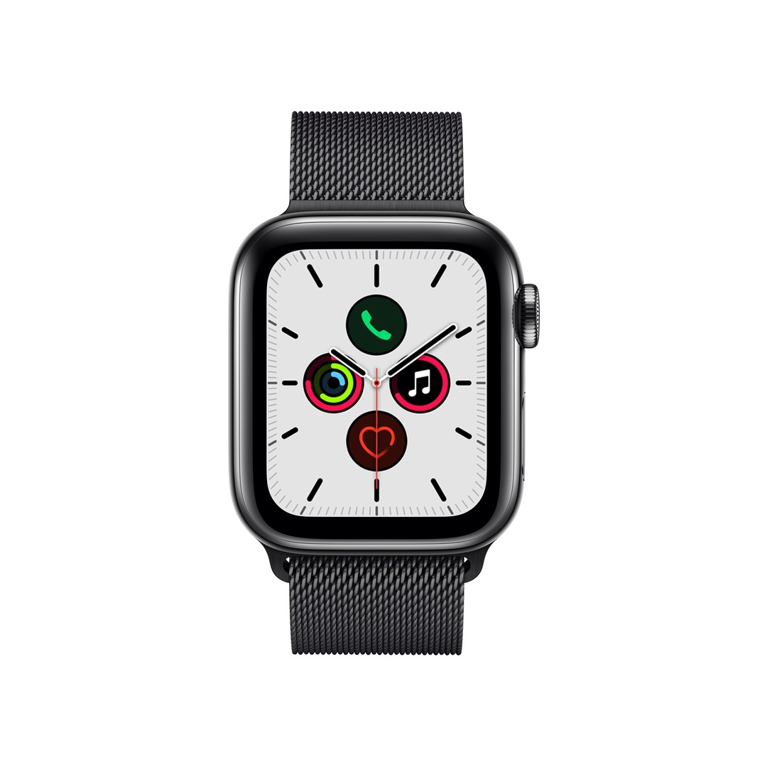 Apple Watch Series 5 (GPS+Cellular) Space Black Stainless Steel with Black Milanese Loop