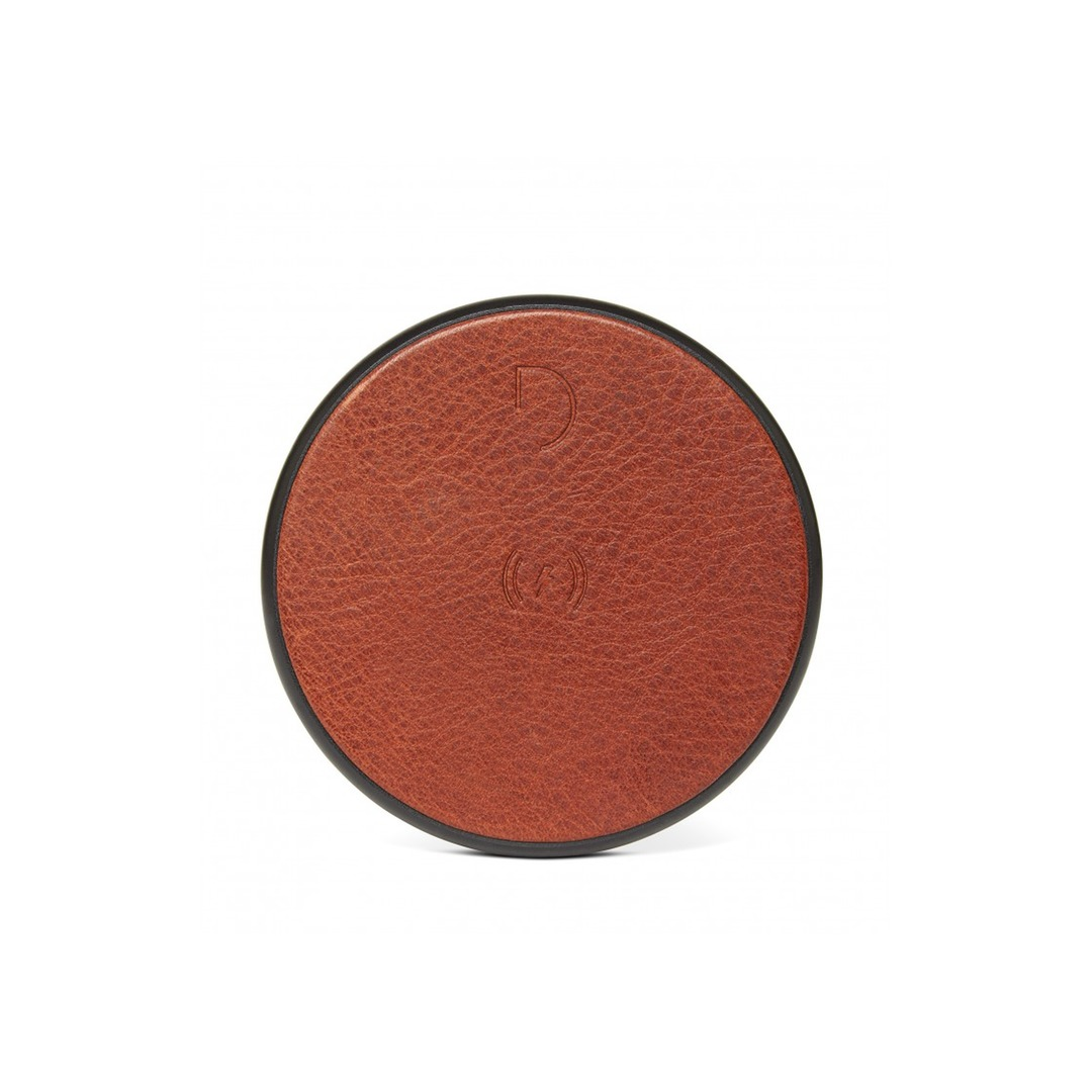 Decoded Leather Qi Charger - Brown