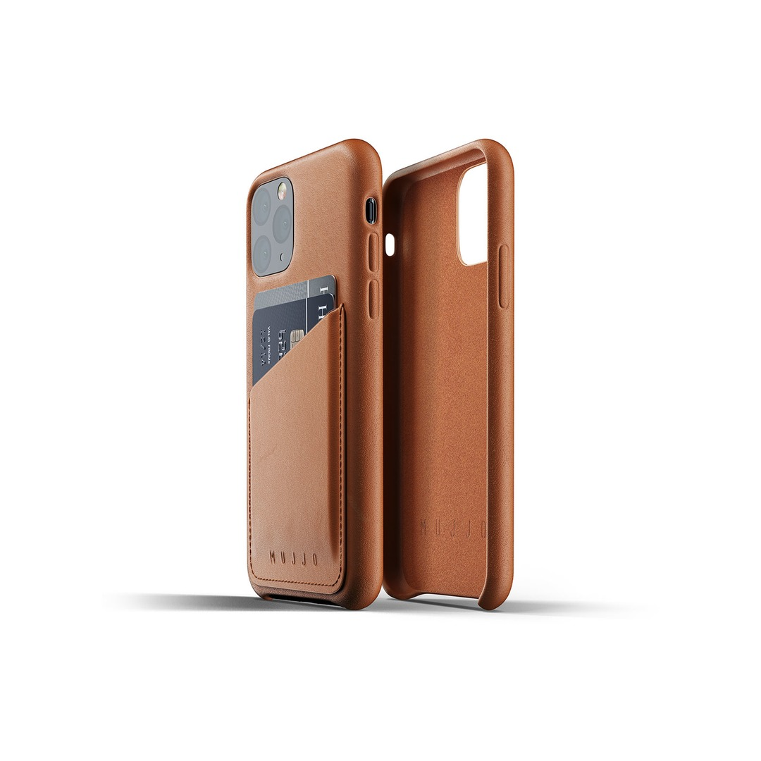 Mujjo Full Leather Wallet Case for iPhone 11 Pro - Tan