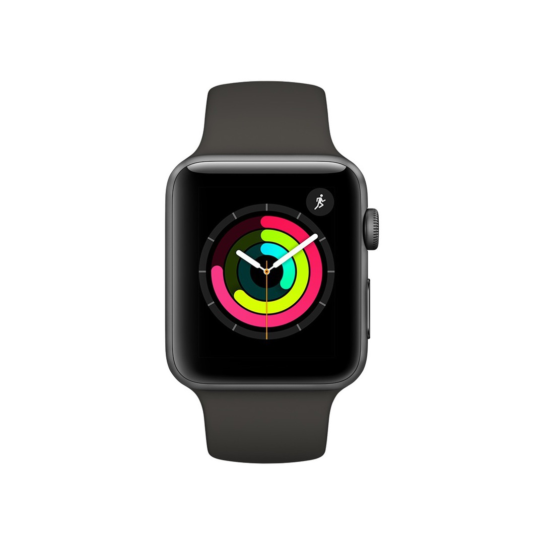 Apple Watch Series 3 GPS Space Grey Aluminium Case with Grey Sport Band