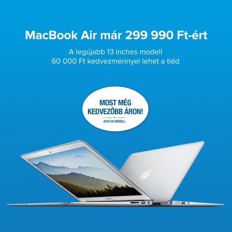 MacBook Air 299 990 Ft