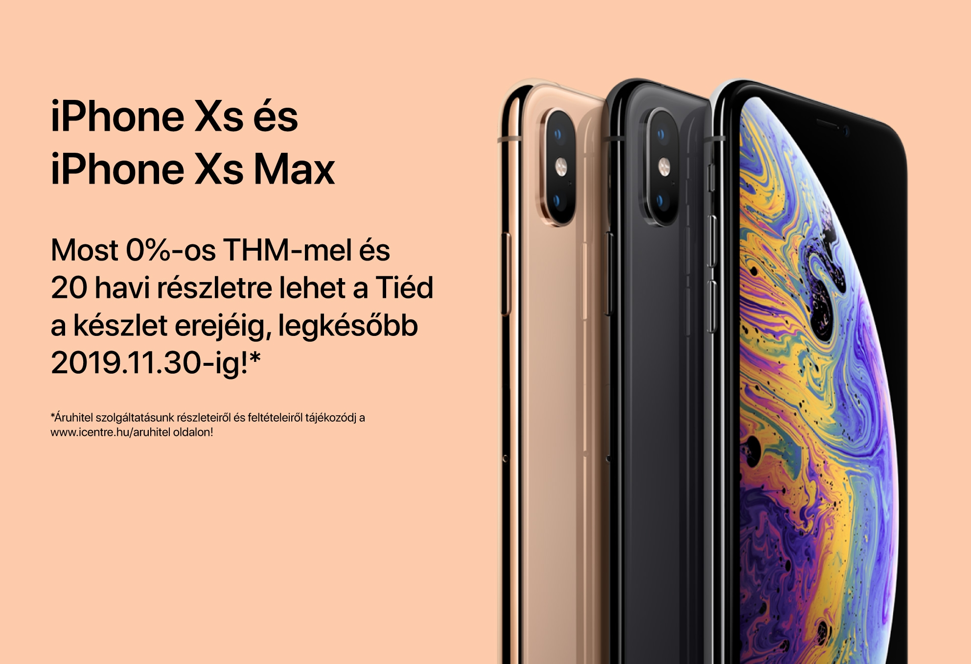 iPhone Xs és iPhone Xs Max 0% THM