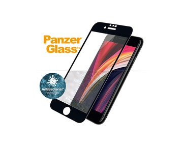 PANZER GLASS Apple iPhone 6/6s/7/8/SE 2020 Case Friendly Anti-bacterial - Black