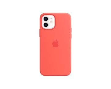 APPLE iPhone 12 | 12 Pro Silicone Case with MagSafe - Pink Citrus  (Seasonal 2020 Winter)