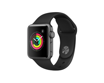 Apple Watch Series 3 GPS Space Grey Aluminium Case with Black Sport Band