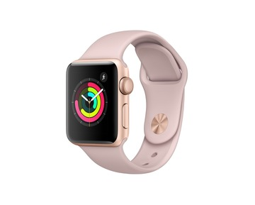 Apple Watch Series 3 GPS Gold Aluminium Case with Pink Sand Sport Band