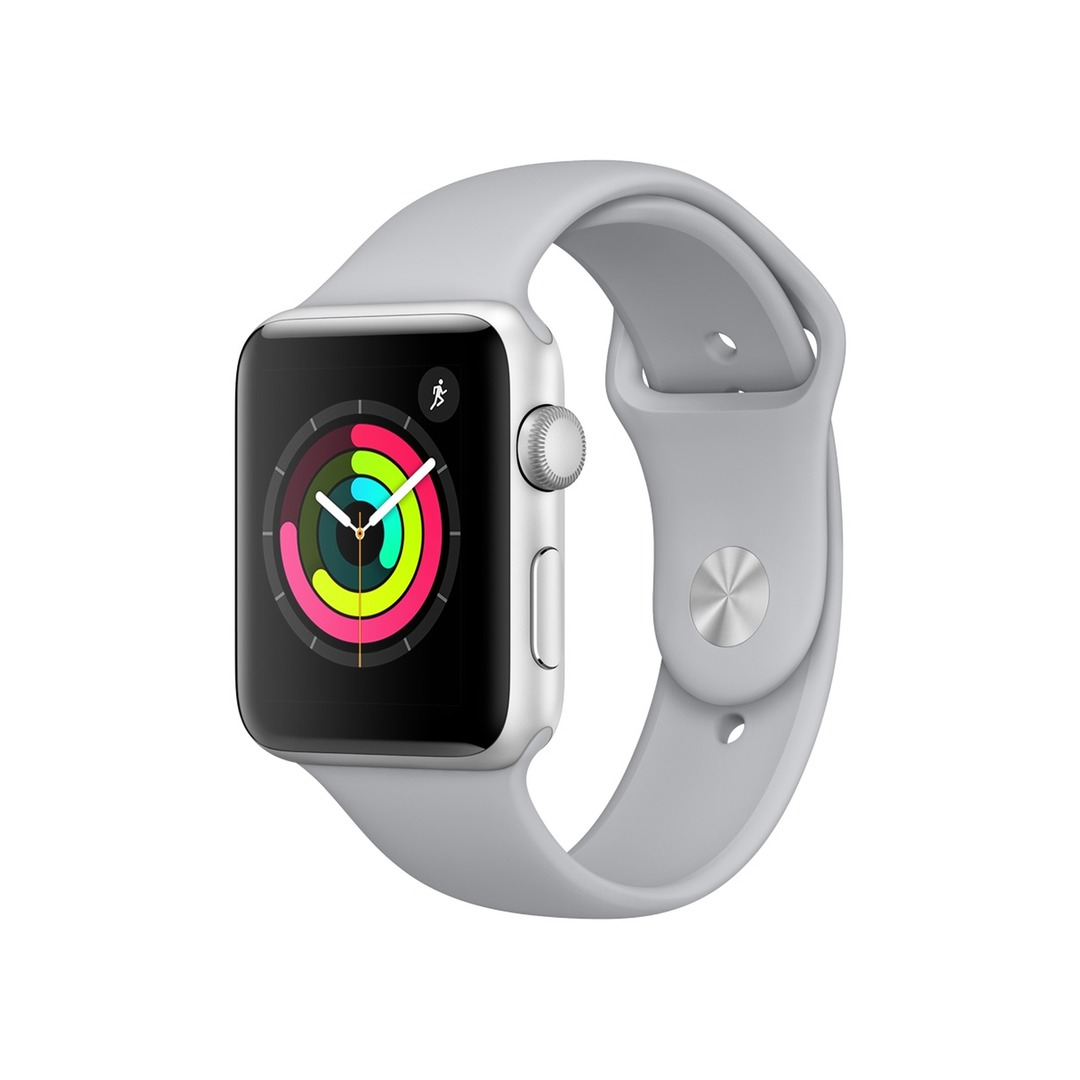 Apple Watch Series 3 GPS Silver Aluminium Case with Fog Sport Band