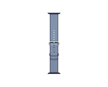 38mm Band Midnight Blue Check Woven