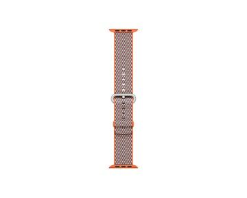 38mm Band Spicy Orange Check Woven Nylon