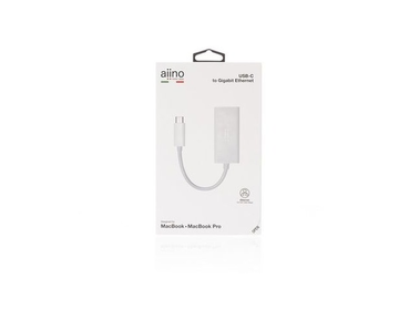 Aiino Adaptor USB-C to Ethernet White
