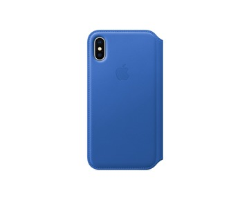 iPhone X Leather Folio Electric Blue
