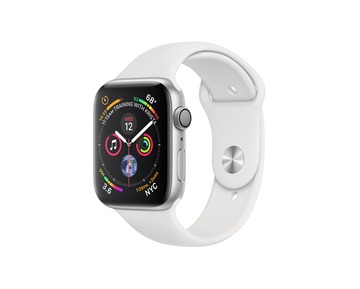 Apple Watch Series 4 GPS Silver Aluminium Case with White Sport Band
