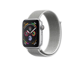 Apple Watch Series 4 GPS Silver Aluminium Case with Seashell Sport Loop