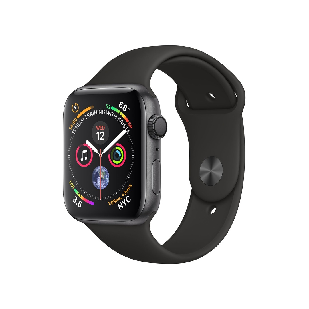 Apple Watch Series 4 GPS Space Grey Aluminium Case with Black Sport Band