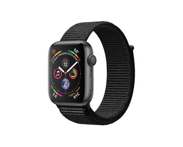 Apple Watch Series 4 GPS Space Grey Aluminium Case with Black Sport Loop