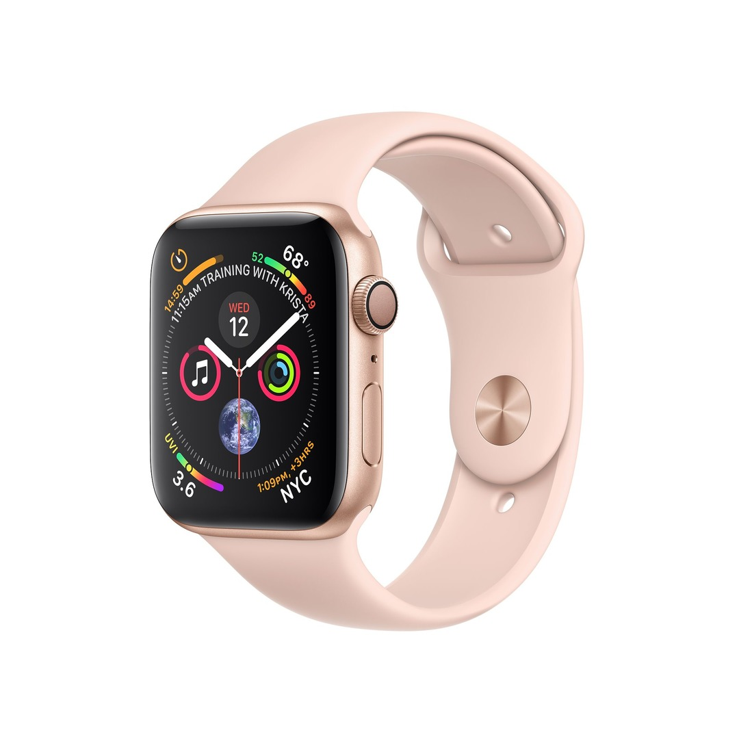 Apple Watch Series 4 GPS Gold Aluminium Case with Pink Sand Sport Band