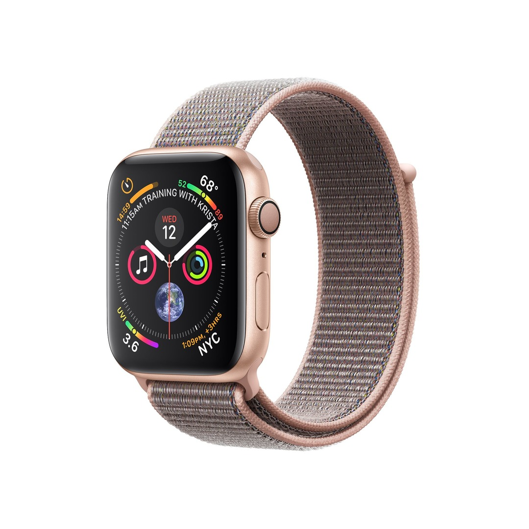 Apple Watch Series 4 GPS Gold Aluminium Case with Pink Sand Sport Loop