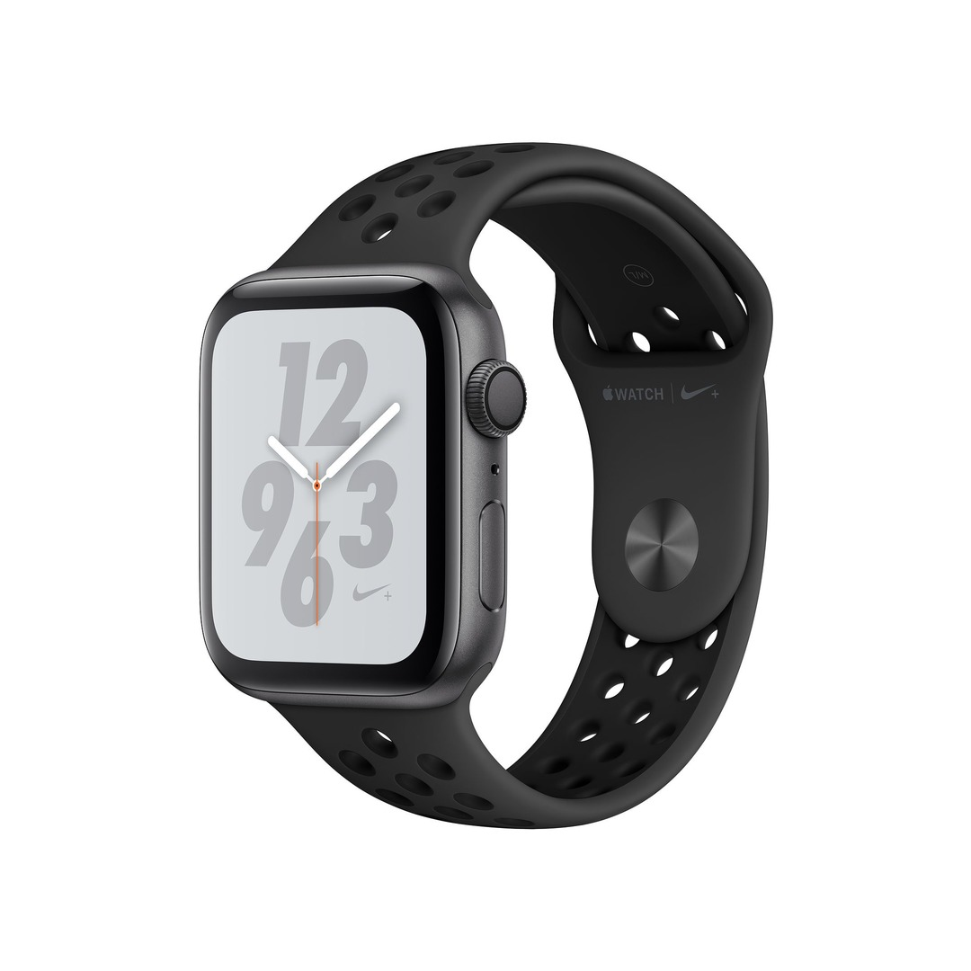 Apple Watch Nike+ Series 4 GPS, Space Grey Aluminium Case with Anthracite/Black Nike Sport Band