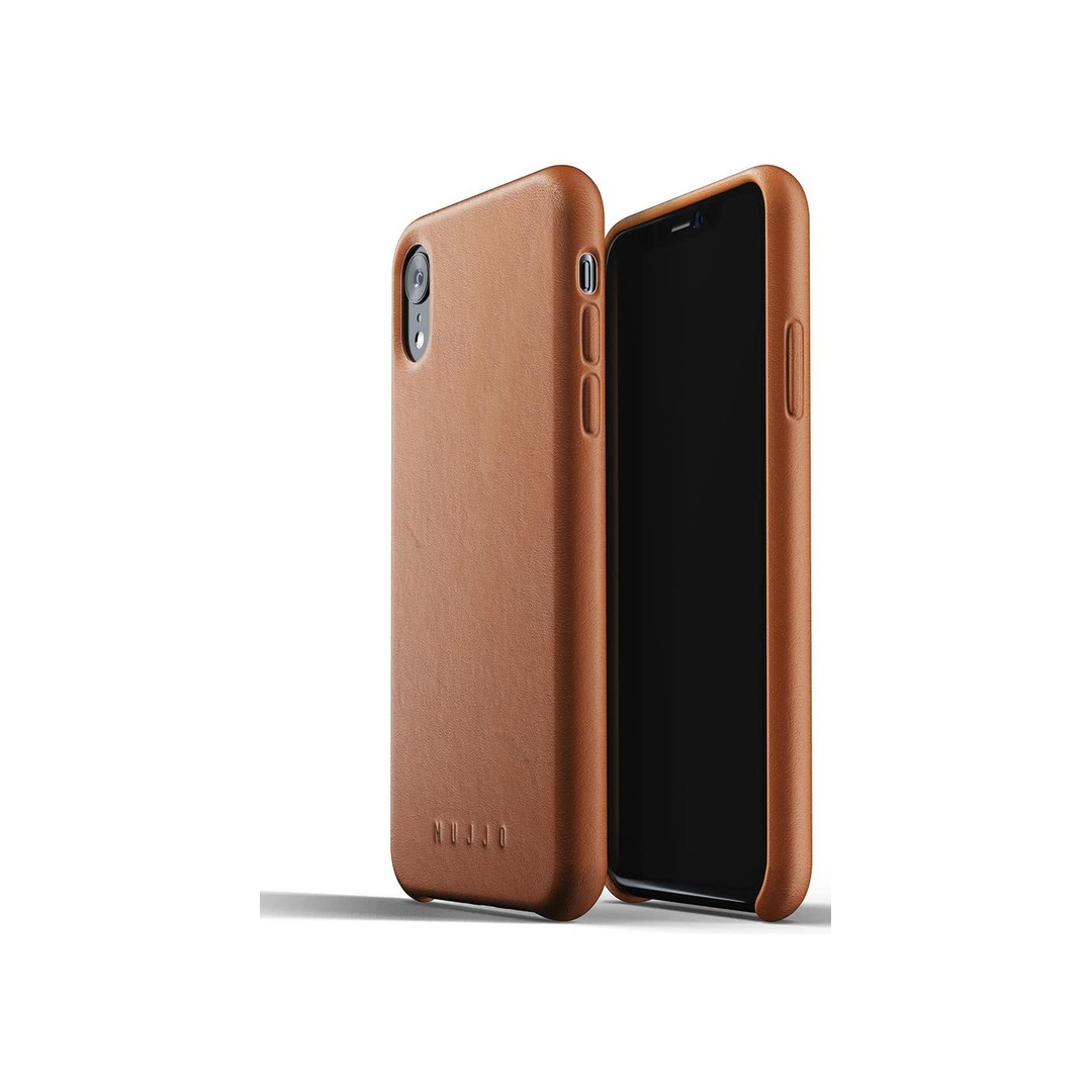 Mujjo Full Leather Case for iPhone Xʀ Brown
