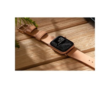 NOMAD Leather Strap Natural Apple Watch 40/38mm - Gold