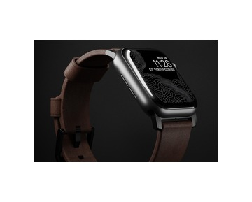 NOMAD Leather Strap Brown Apple Watch 40/38mm - Black