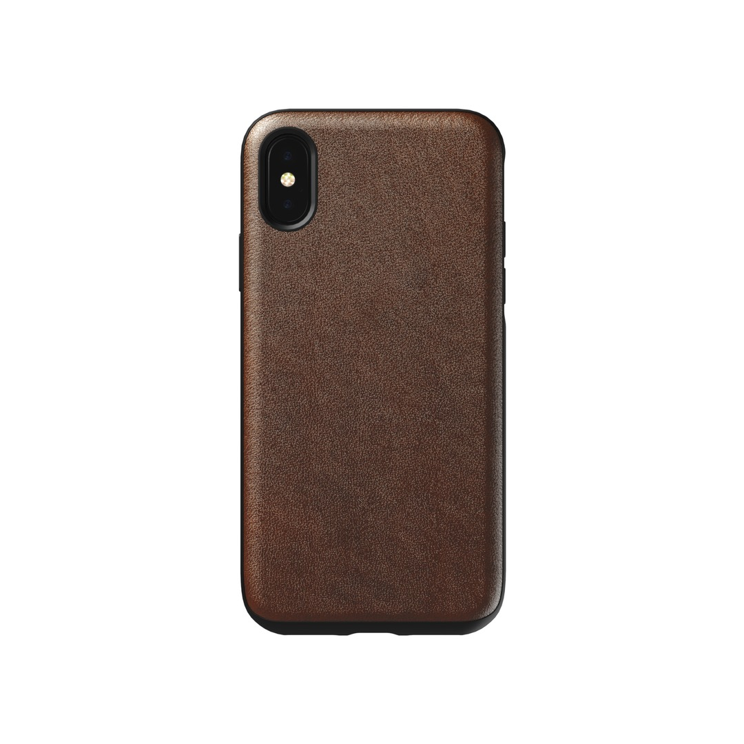 NOMAD Rugged Leather case iPhone X/XS - Brown