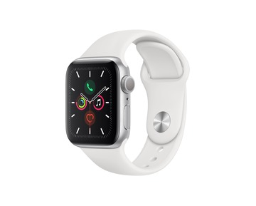Apple Watch Series 5 GPS - Silver Aluminium Case with White Sport Band