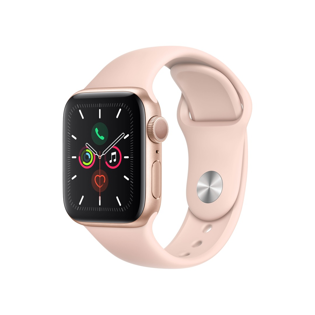 Apple Watch Series 5 GPS - Gold Aluminium Case with Pink Sand Sport Band
