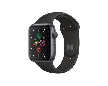 Apple Watch Series 5 GPS - Space Grey Aluminium Case with Black Sport Band