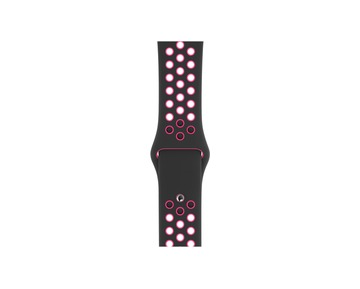 Apple Watch 44mm Nike Band: Black/Pink Blast Nike Sport Band - S/M & M/L