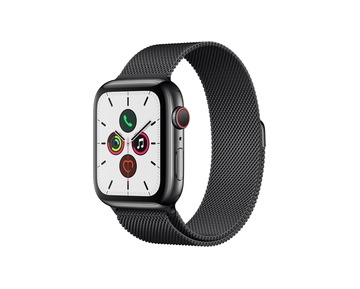 Apple Watch Series 5 GPS + Cell,44mm Space Black Stainless Steel Case with Space Black Milanese Loop